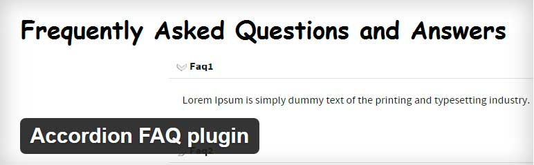 Best FAQ Plugin For WordPress Accordion FAQ