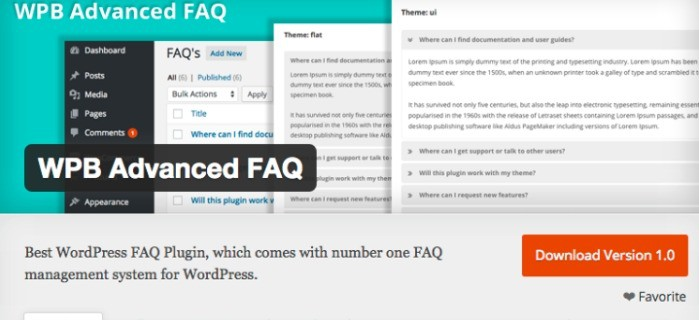 WPB Advanced FAQ Plugin